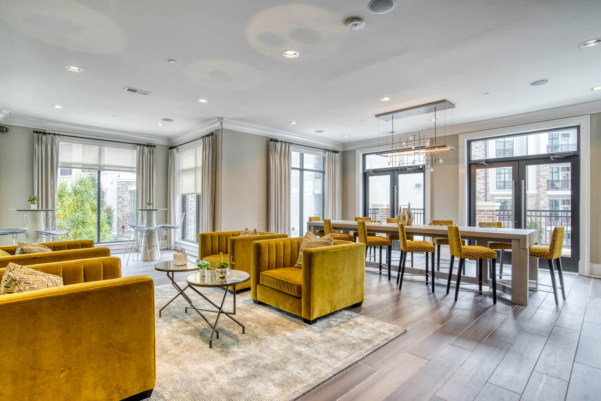 Free WiFi throughout resident clubhouse at Windsor Chastain, Atlanta, GA