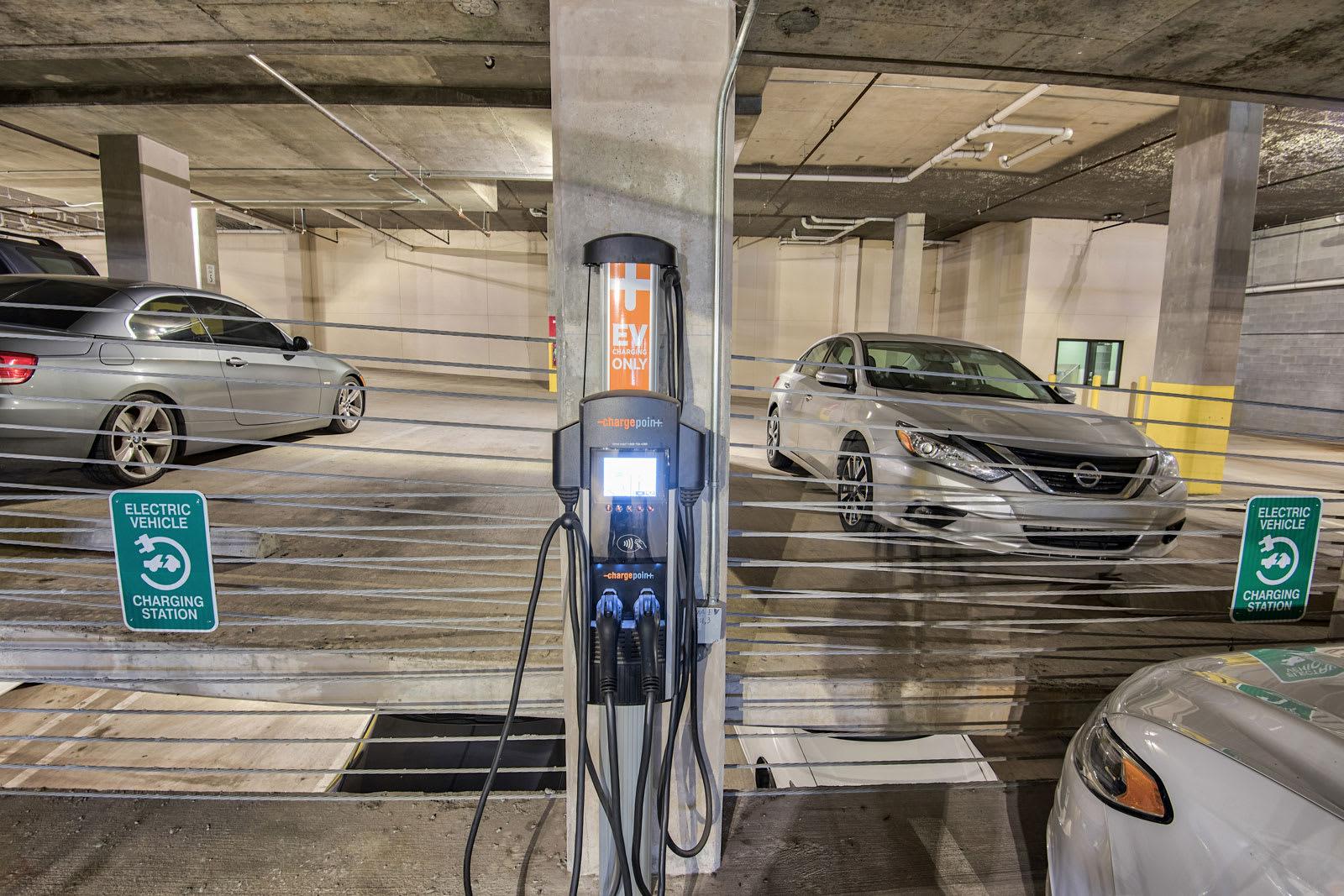 E/V charging station at Midtown Houston by Windsor, Houston, TX