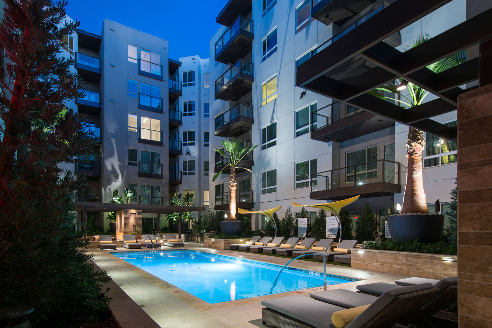 Resort-Style Pool at 1000 Grand by Windsor, 1000 S Grand Ave, Los Angeles