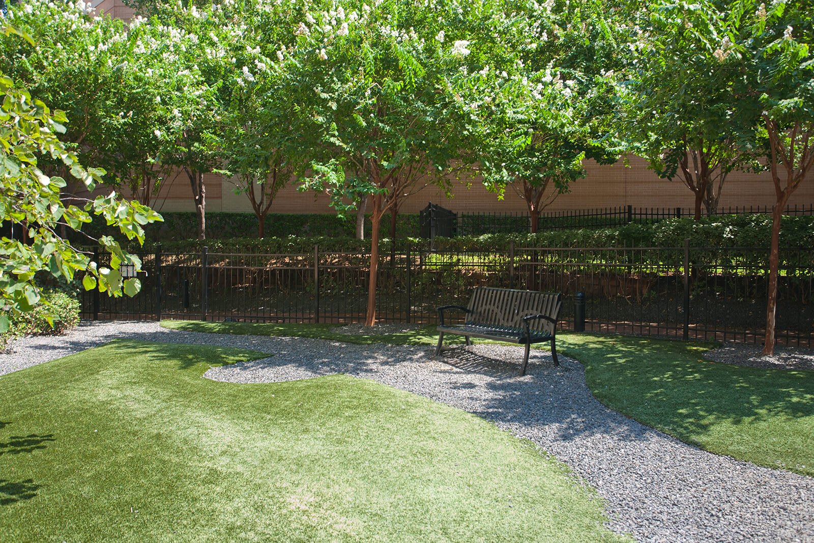 Enclosed Dog Park equipped with K9 Grass (R) at Glass House by Windsor, 2728 McKinnon Street, Dallas