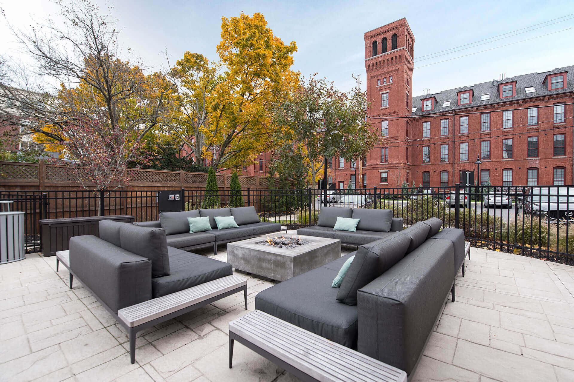Fire pit and seating at Jack Flats by Windsor, MA, 02176