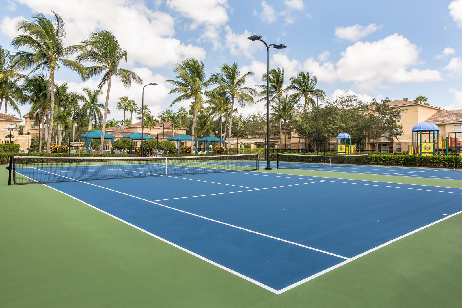 Lighted, Regulation Tennis Courts at Windsor at Miramar, Florida, 33027