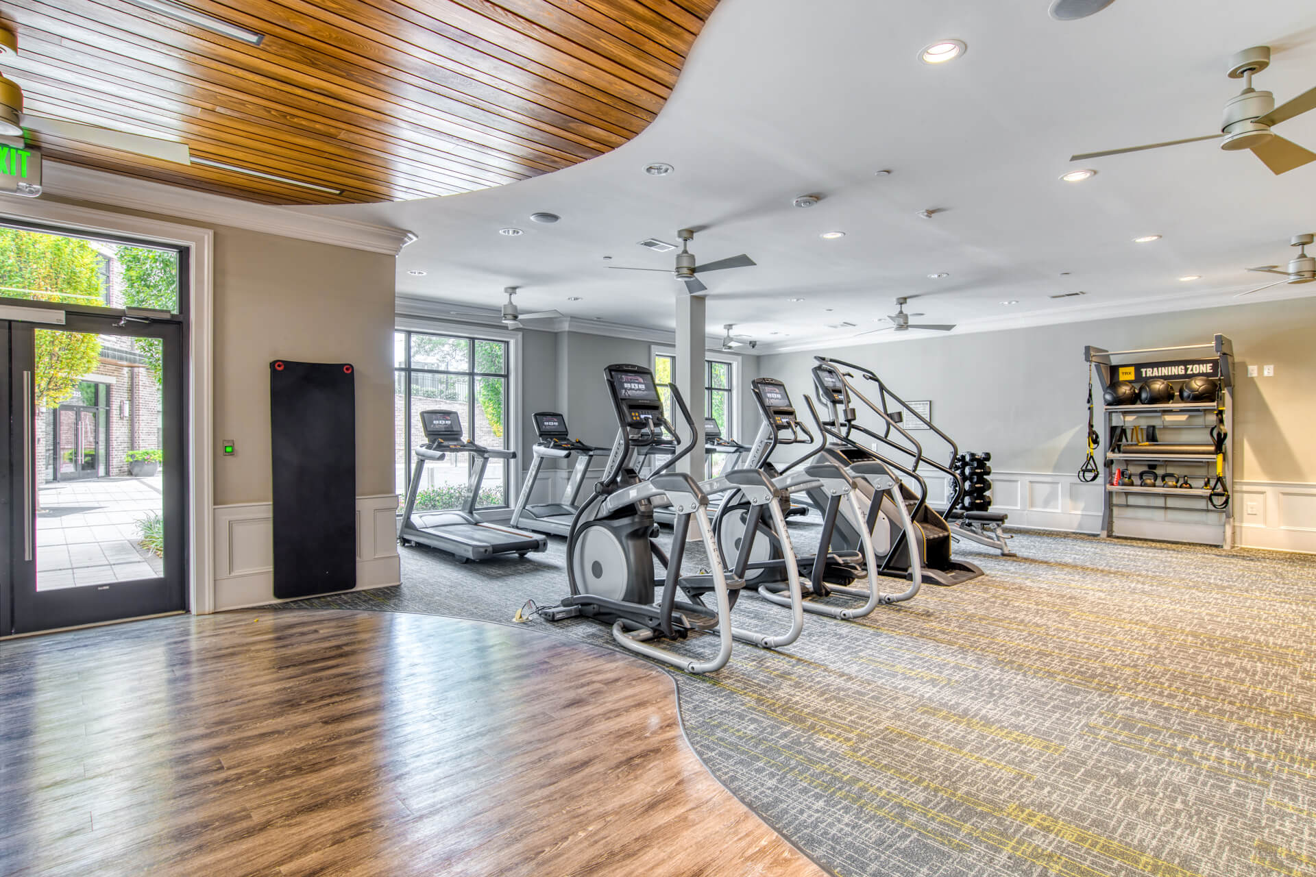 Fitness Center with TRX Training Zone at Windsor Chastain, Atlanta, Georgia