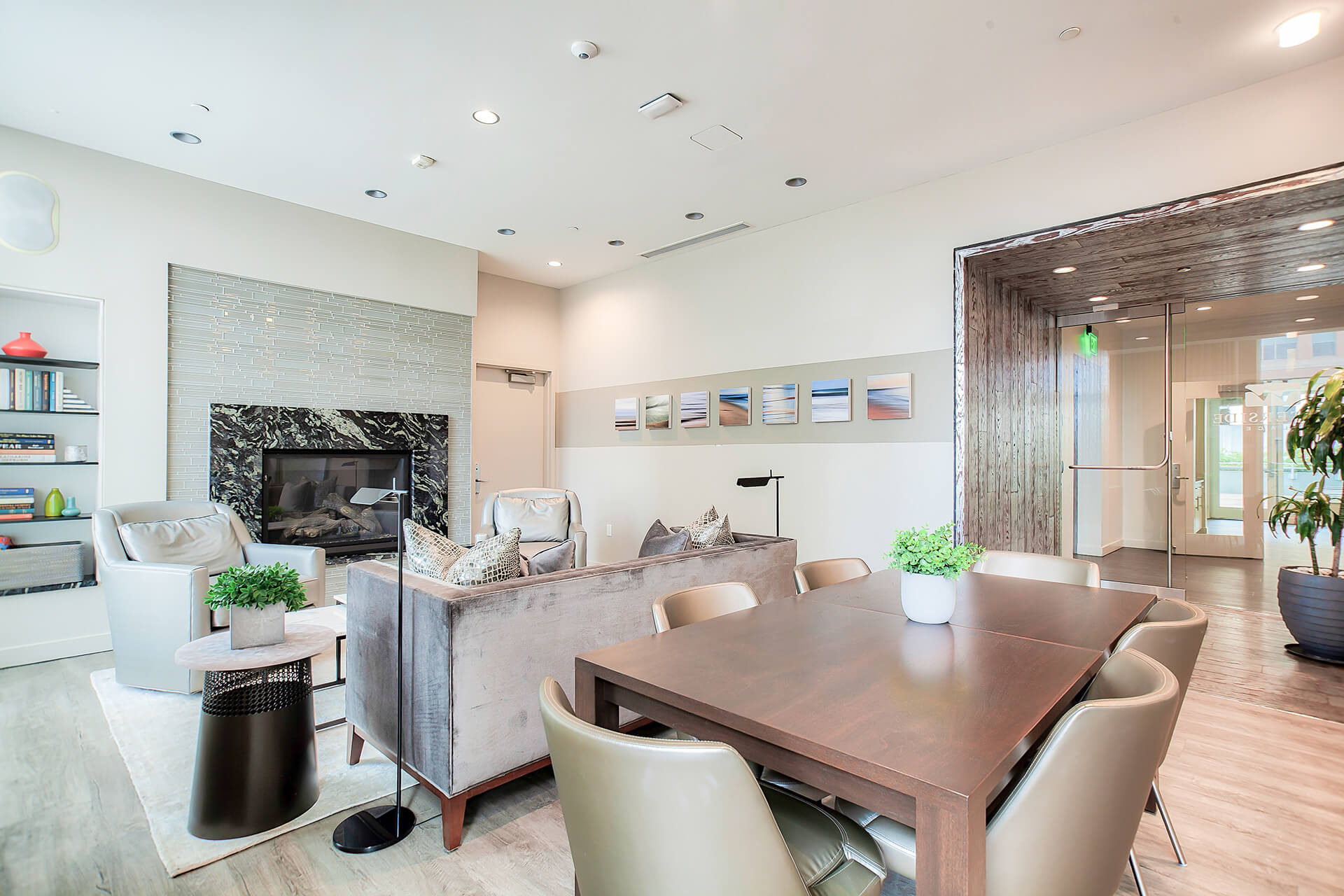 Cozy Fireside Resident Lounge at Waterside Place by Windsor, Massachusetts, 02210