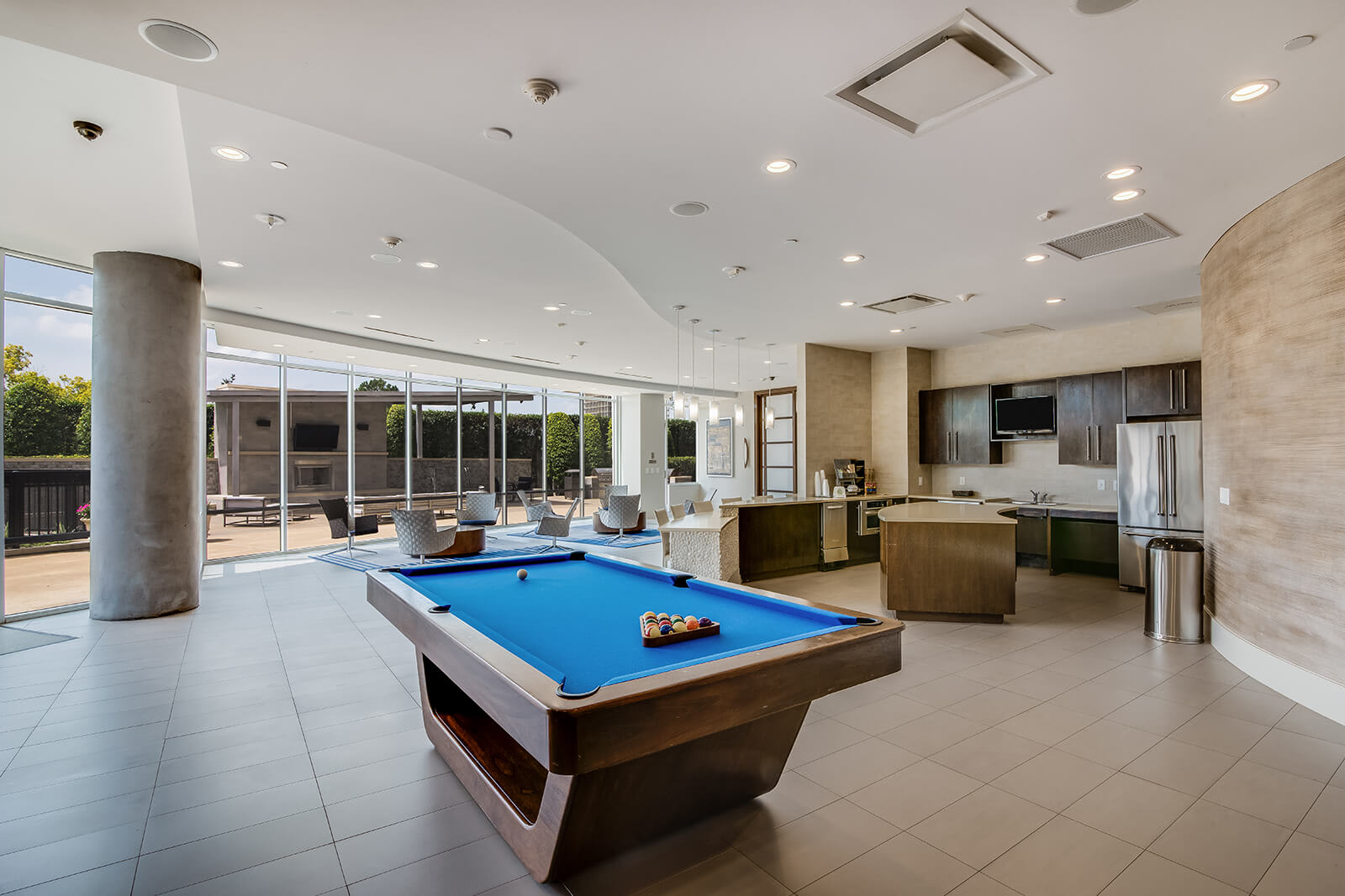 W Lounge with Full Catering Kitchen and Billiards Table at Memorial by Windsor, 3131 Memorial Court, Houston