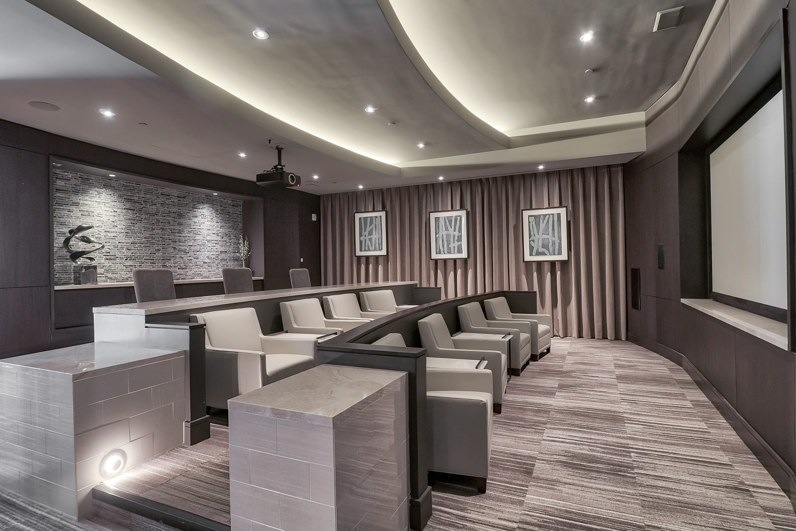 Private Movie Screening Room at 1000 Grand by Windsor, 1000 S Grand Ave, CA