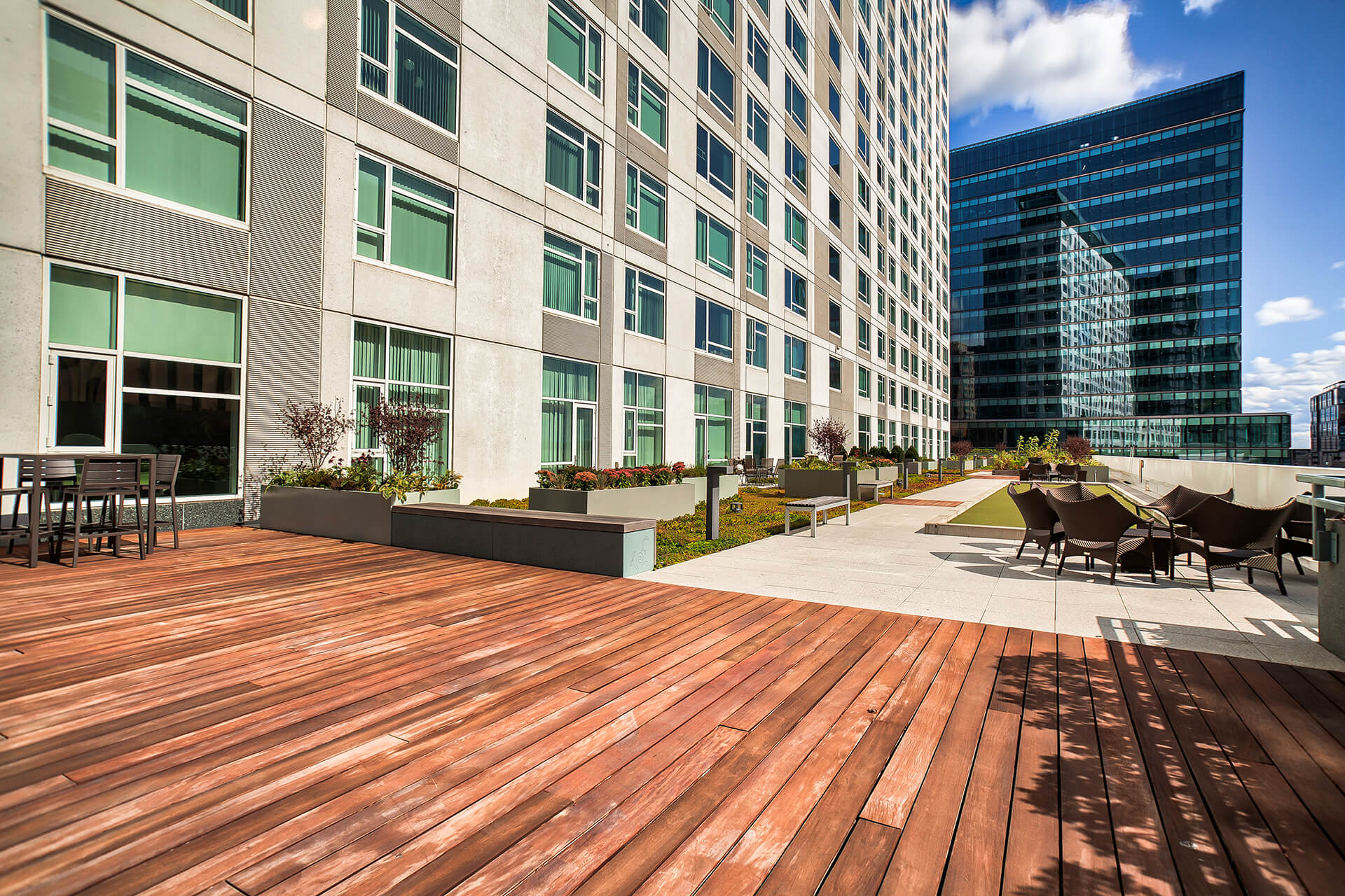 Community Garden Space for Resident Use at Waterside Place by Windsor, Boston, Massachusetts