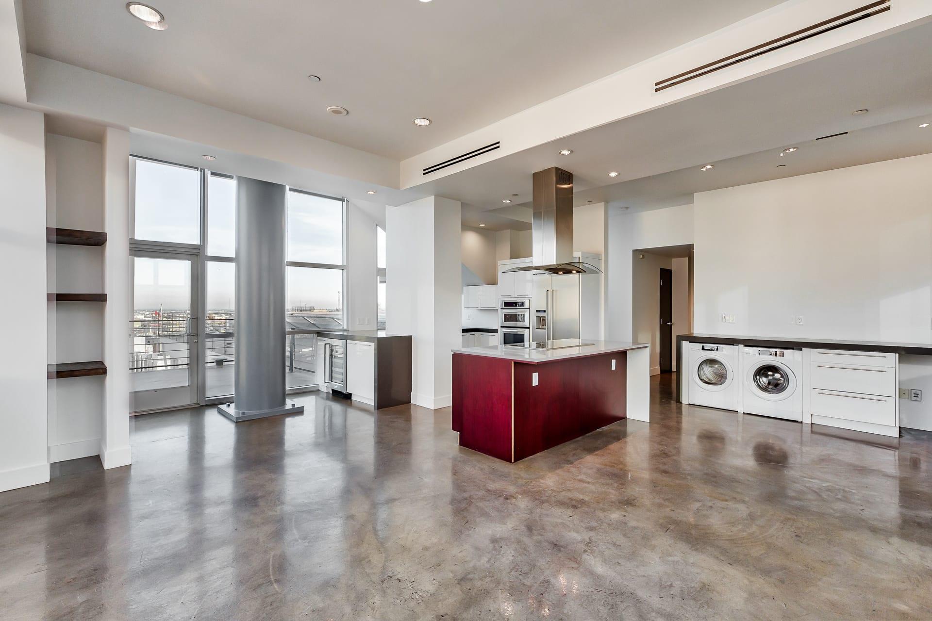 Floor Plan  Spacious, open layout apartment at Renaissance Tower, California, 90015, opens a dialog