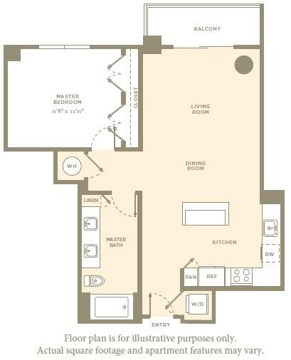 Floor Plan  A2a Floor Plan at Amaray Las Olas by Windsor, FL, 33301, opens a dialog