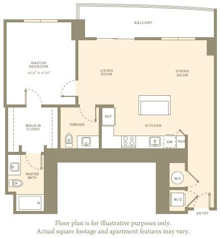 Floor Plan  A3b Floor Plan at Amaray Las Olas by Windsor, Fort Lauderdale, Florida, opens a dialog