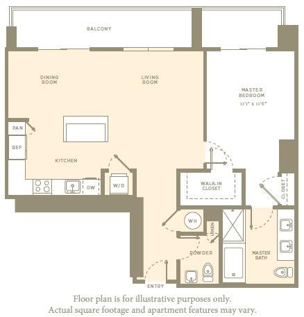 Floor Plan  A4 Floor Plan at Amaray Las Olas by Windsor, Florida, 33301, opens a dialog