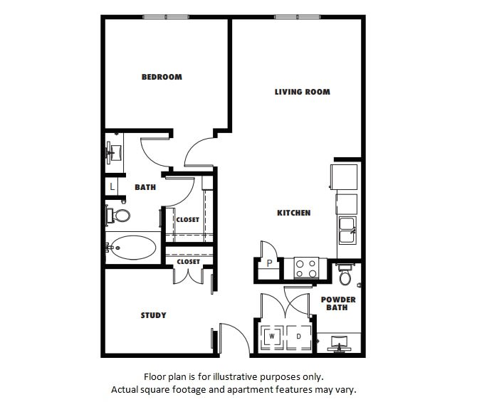 Floor Plan  A5 floor plan at Windsor Metro West, 8055 Windrose Ave, 75024, opens a dialog