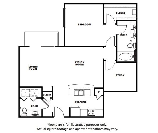 Floor Plan  A6 floor plan at Windsor Metro West, TX, 75024, opens a dialog