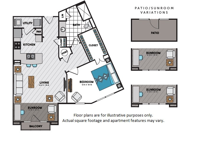 Floor Plan  A8 One Bedroom One Bath Floor Plan at Windsor Chastain, 225 Franklin Rd NE, Atlanta, opens a dialog