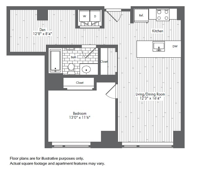 Floor Plan  A9 1 Bed 1 Bath Floor Plan at Waterside Place by Windsor, Massachusetts, opens a dialog