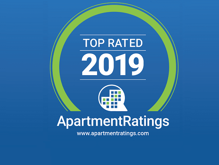 ApartmentRatings Top Rated 2019 Award at Windsor at Main Place, Orange, California