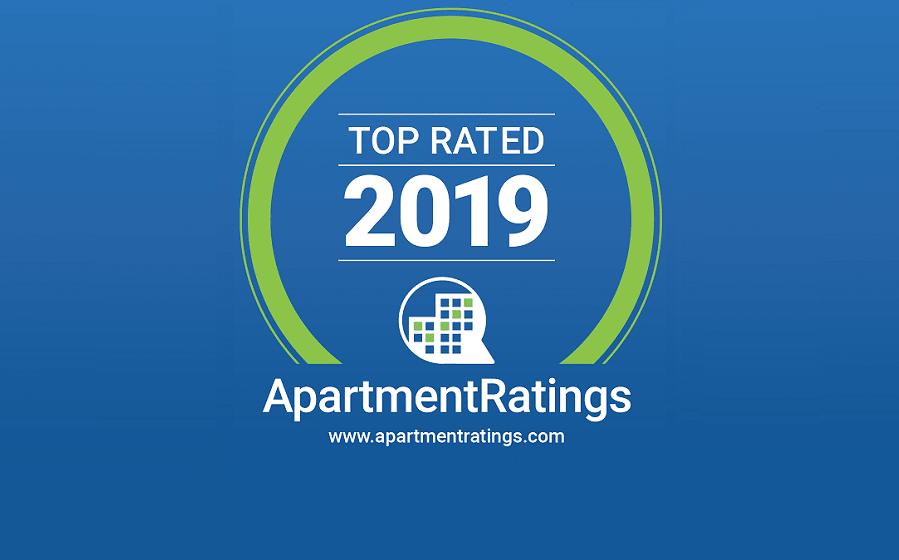 ApartmentRatings Top Rated 2019 Award at The Jordan by Windsor, Dallas, TX