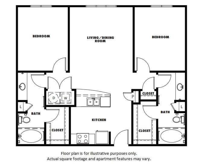 Floor Plan  B1 floor plan at Windsor Metro West, Plano, Texas, opens a dialog