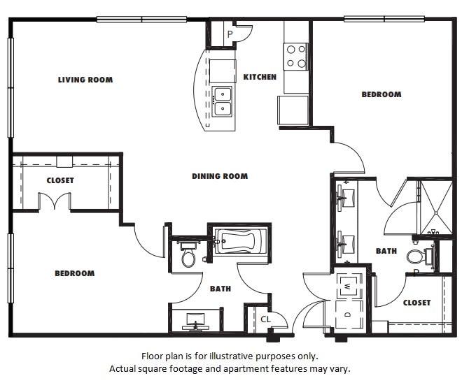 Floor Plan  B2 floor plan at Windsor Metro West, TX, 75024, opens a dialog
