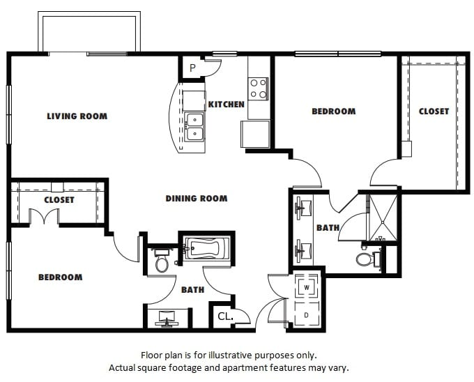 Floor Plan  B2A floor plan at Windsor Metro West, Plano, Texas, opens a dialog