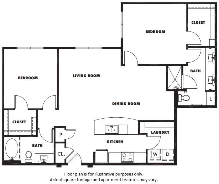Floor Plan  B3 floor plan at Windsor Metro West, Texas, 75024, opens a dialog