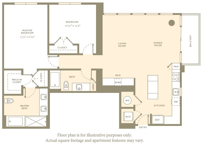 Floor Plan  B7 Floor Plan at Amaray Las Olas by Windsor, Fort Lauderdale, Florida, opens a dialog