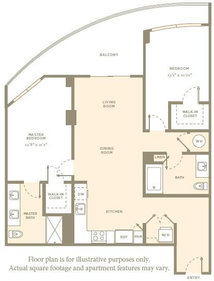 Floor Plan  B9 Floor Plan at Amaray Las Olas by Windsor, Fort Lauderdale, FL, opens a dialog