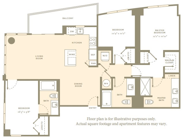 Floor Plan  C1 Floor Plan at Amaray Las Olas by Windsor, 215 SE 8th Ave, FL, opens a dialog