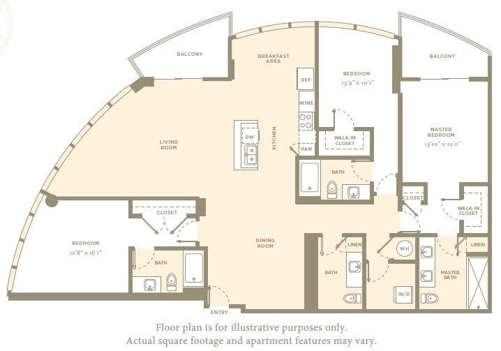 Floor Plan  P1 Floor Plan at Amaray Las Olas by Windsor, Florida, 33301, opens a dialog