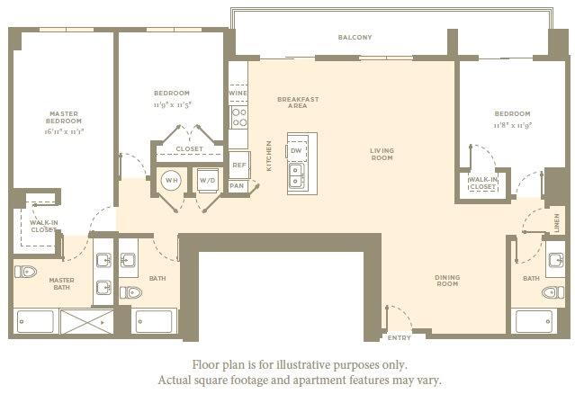 Floor Plan  PH3 Floor Plan at Amaray Las Olas by Windsor, Fort Lauderdale, FL, opens a dialog