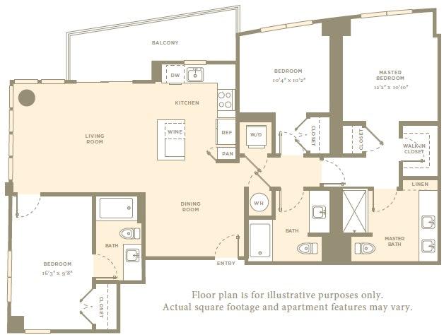 Floor Plan  PH6 Floor Plan at Amaray Las Olas by Windsor, Fort Lauderdale, Florida, opens a dialog