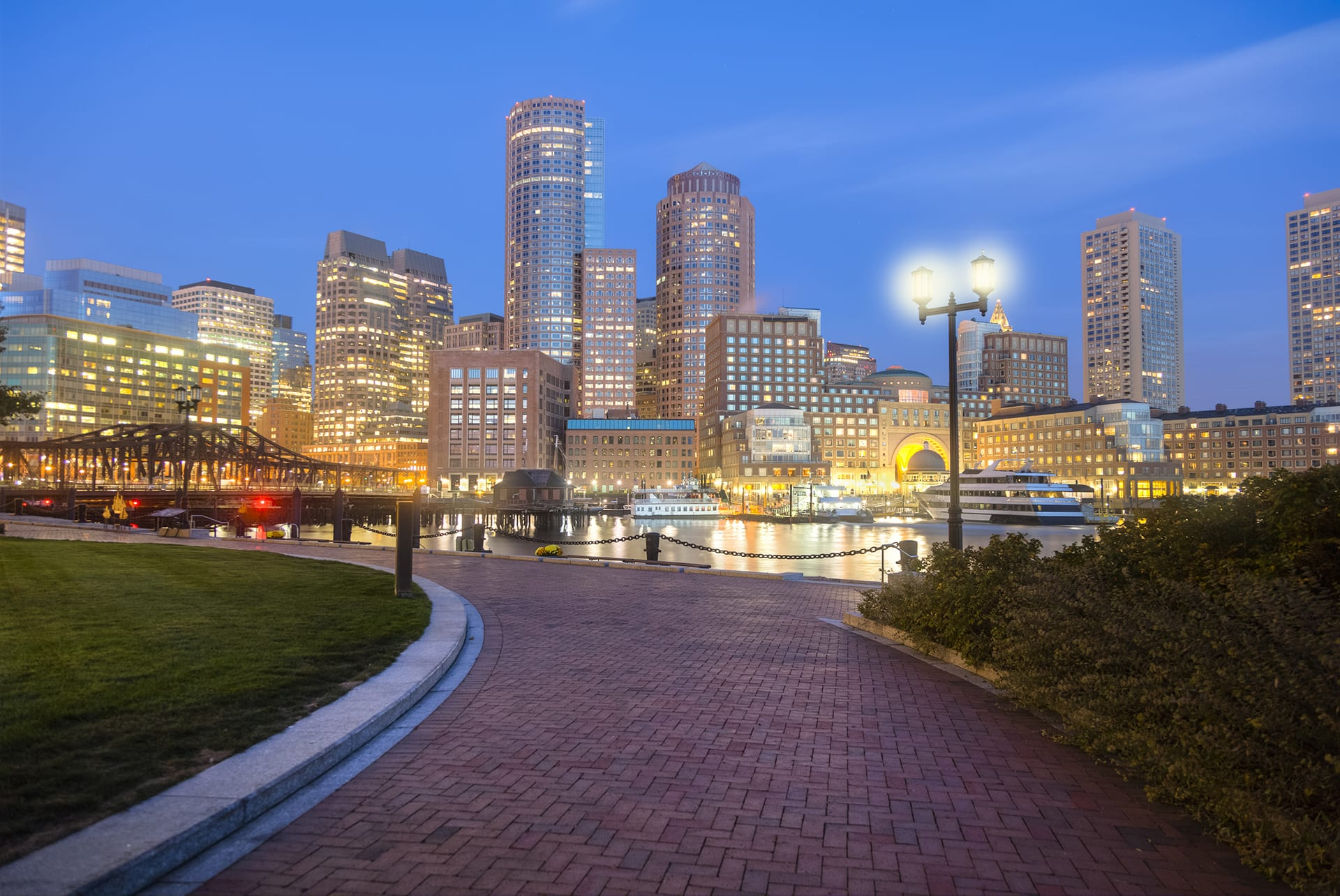 Gorgeous Water Views and City Views from Outdoor Living Spaces at Waterside Place by Windsor, Boston, MA, 02210