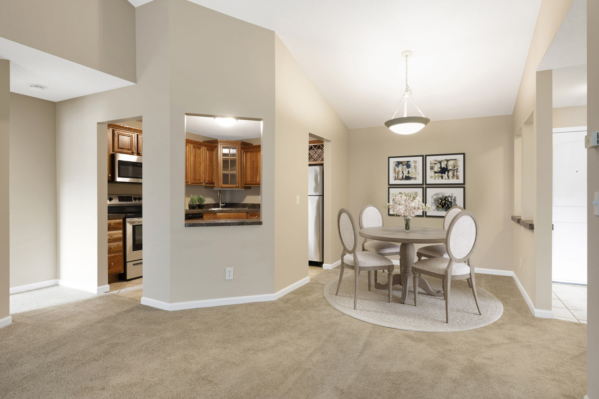 The Riverwood Apartments in Lilydale, MN Dining Area