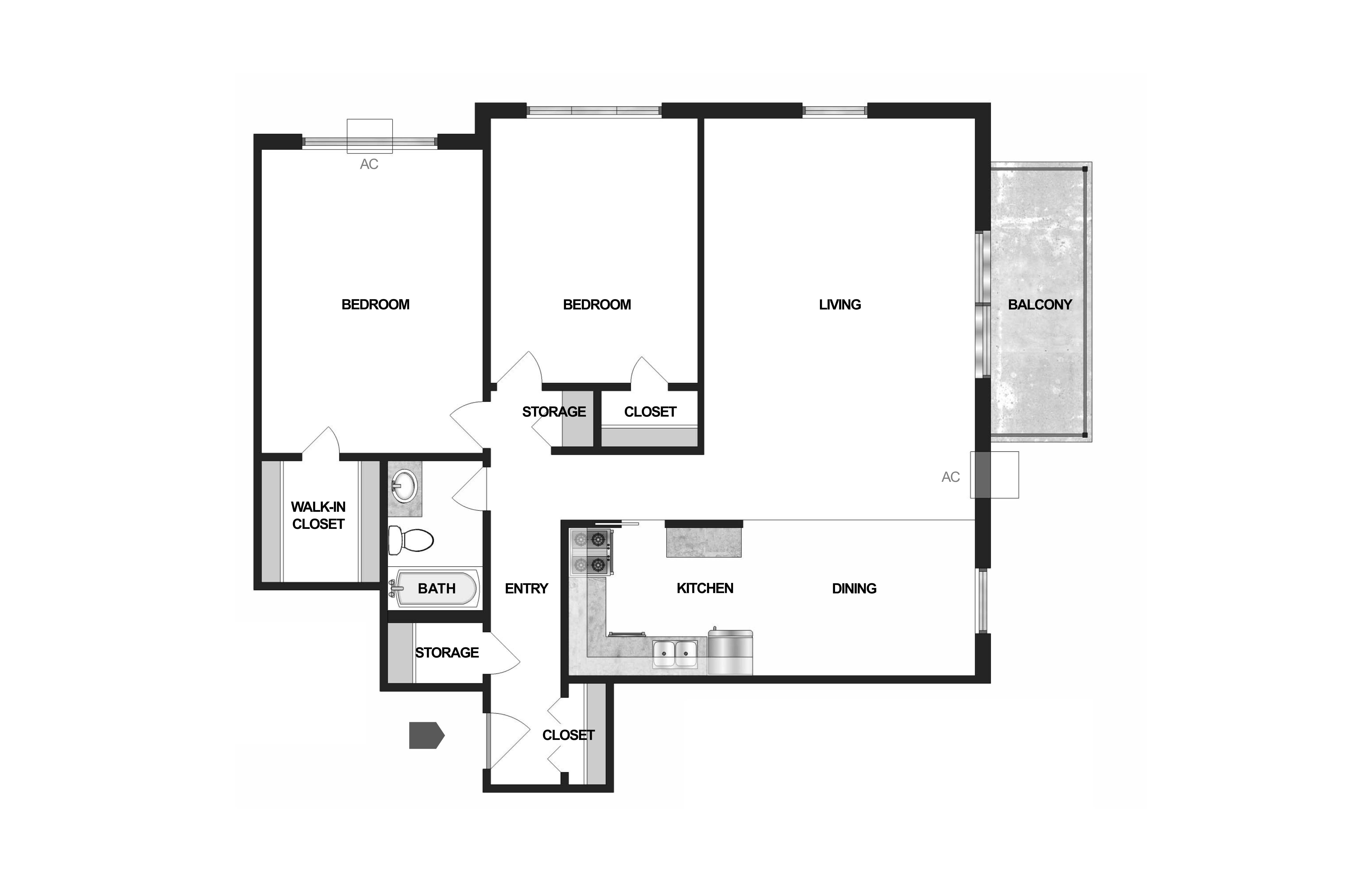 Floor Plan  Villages on McKnight Maplewood Floor Plan, opens a dialog