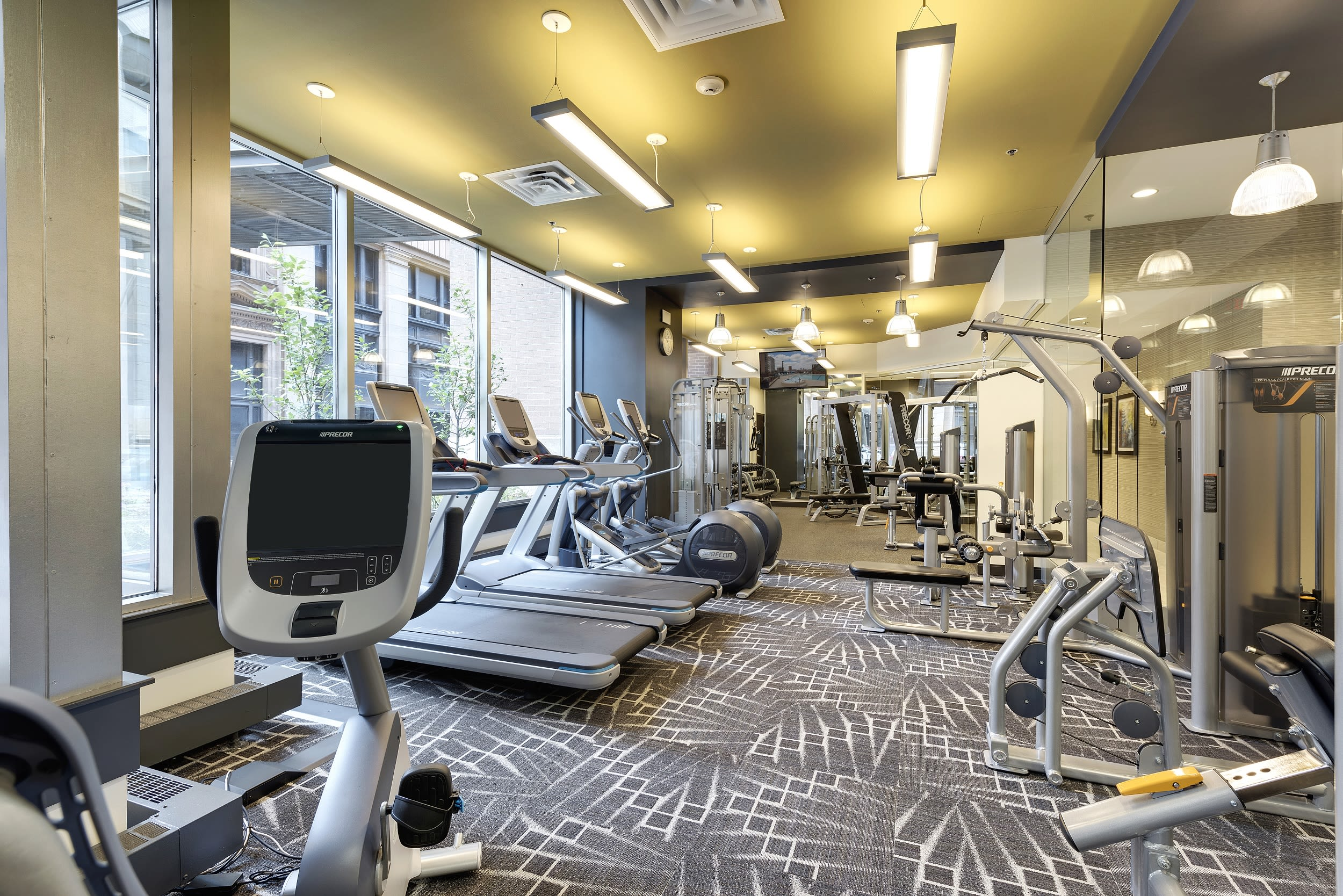 Galtier Towers Apartments in Lowertown, St. Paul, MN State of the Art Fitness Center