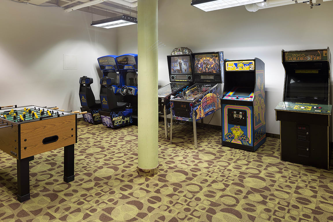 Lowertown Lofts Apartments in St. Paul, MN Arcade Room