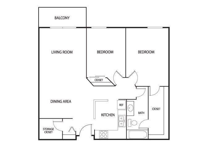 Floor Plan  Valley Pond Apartments in Apple Valley, MN 2 Bedroom 2 Bath