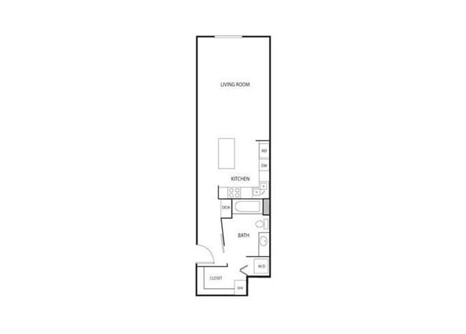 Floor Plan  Lowertown Lofts in St. Paul, MN Studio Apartment, opens a dialog