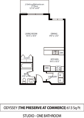 Floor Plan  The Preserve at Commerce Apartments in Rogers, MN Studio