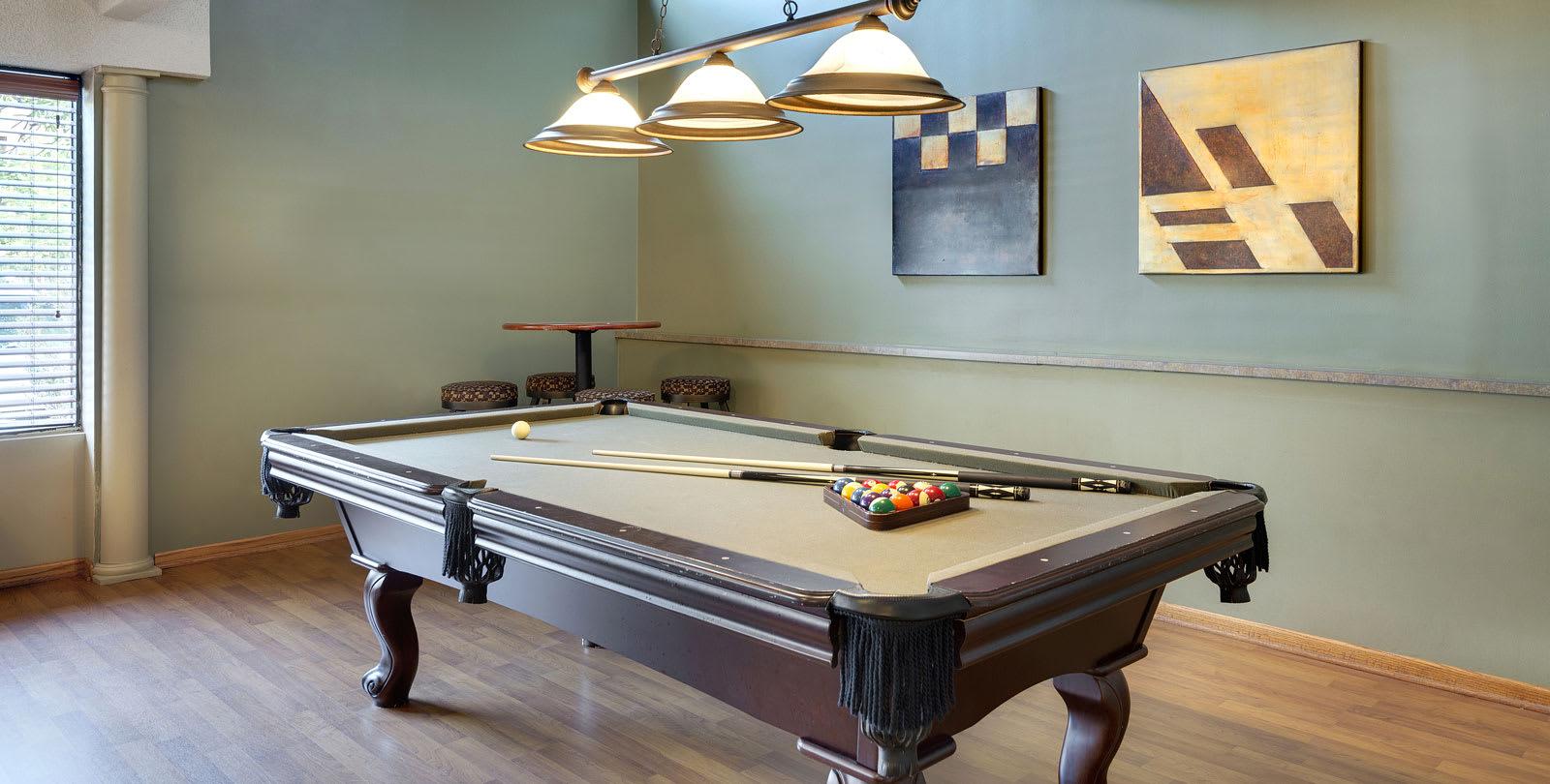 Park Pointe Apartments in St. Louis Park, MN Billiards Table