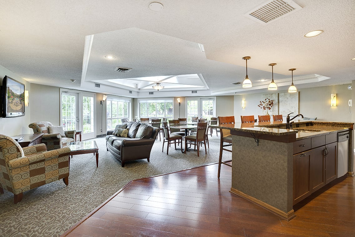 The Riverwood Apartments in Lilydale, MN Community Room