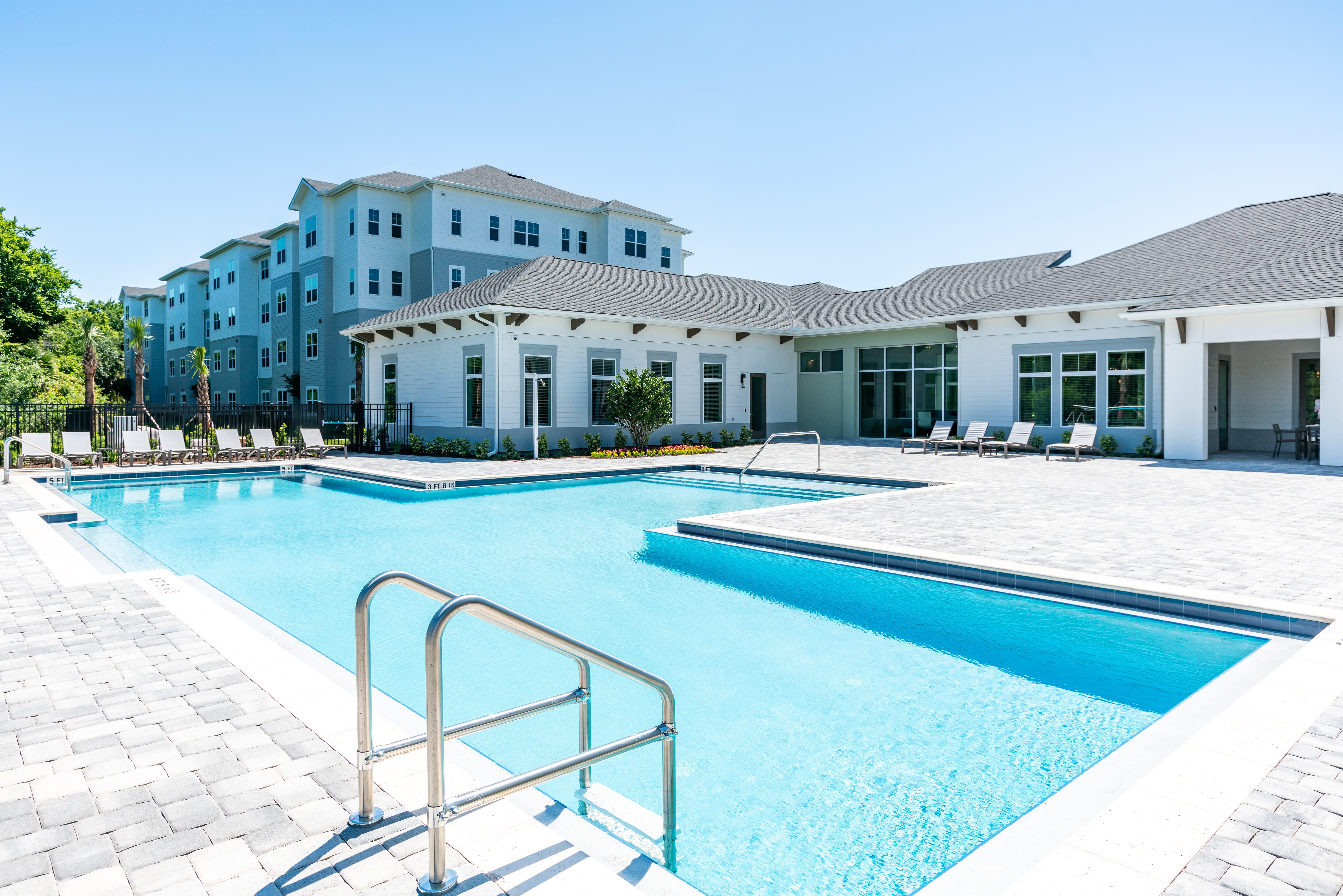 huge pool and sundeck