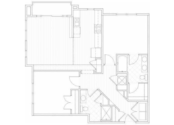 Floor Plan  Two bedroom two bathroom B2 floorplan at 1160 Hammond Apartments in Sandy Springs, GA, opens a dialog