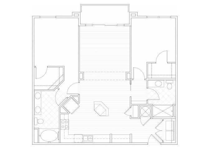 Floor Plan  Two bedroom two bathroom B3 floorplan at 1160 Hammond Apartments in Sandy Springs, GA, opens a dialog