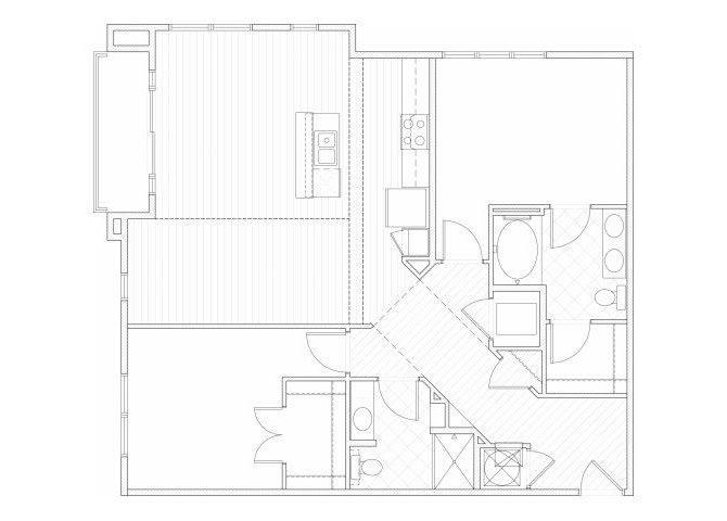 Floor Plan  Two bedroom two bathroom B4 floorplan at 1160 Hammond Apartments in Sandy Springs, GA, opens a dialog