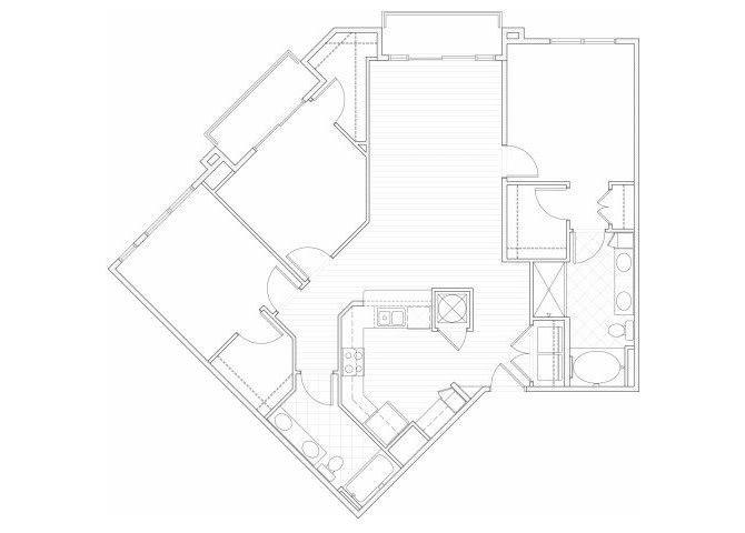Floor Plan  Three bedroom two bathroom C1 floorplan at 1160 Hammond Apartments in Sandy Springs, GA, opens a dialog