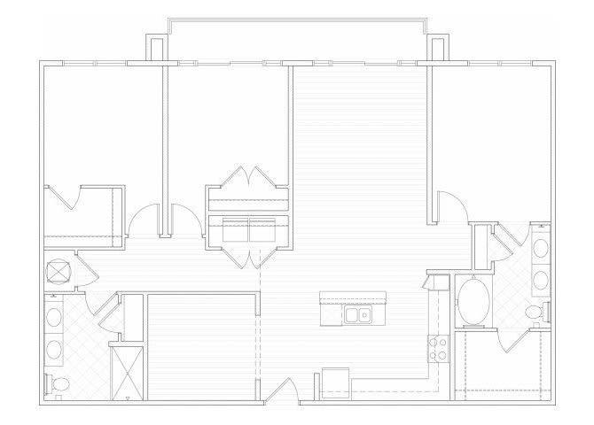 Floor Plan  Three bedroom two bathroom C2 floorplan at 1160 Hammond Apartments in Sandy Springs, GA, opens a dialog