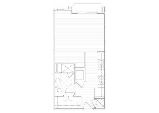 Floor Plan  Studio one bathroom S1 floorplan at 1160 Hammond Apartments in Sandy Springs, GA, opens a dialog