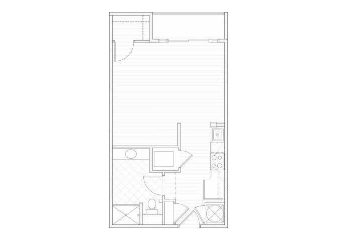 Floor Plan  Studio one bathroom S2 floorplan at 1160 Hammond Apartments in Sandy Springs, GA, opens a dialog
