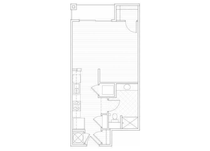 Floor Plan  Studio one bathroom S3 floorplan at 1160 Hammond Apartments in Sandy Springs, GA, opens a dialog